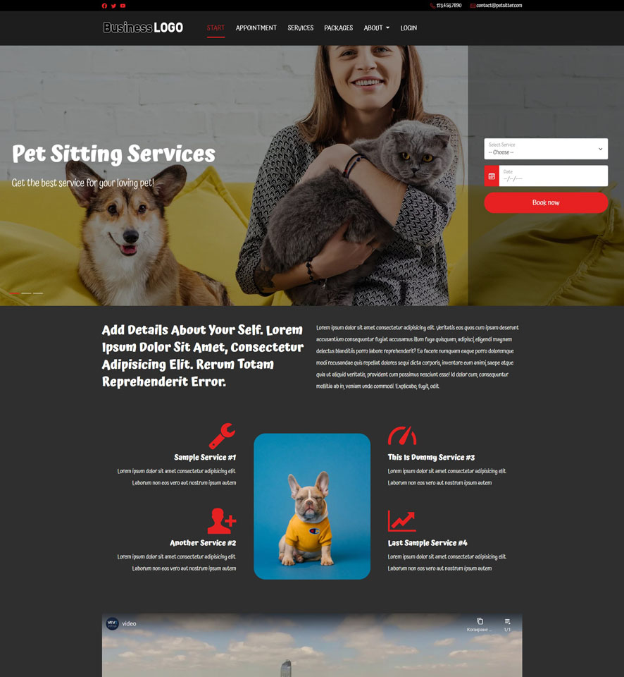 Pet Sitting Website Design by VEVS 3