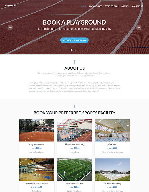 Playground Website Template #1