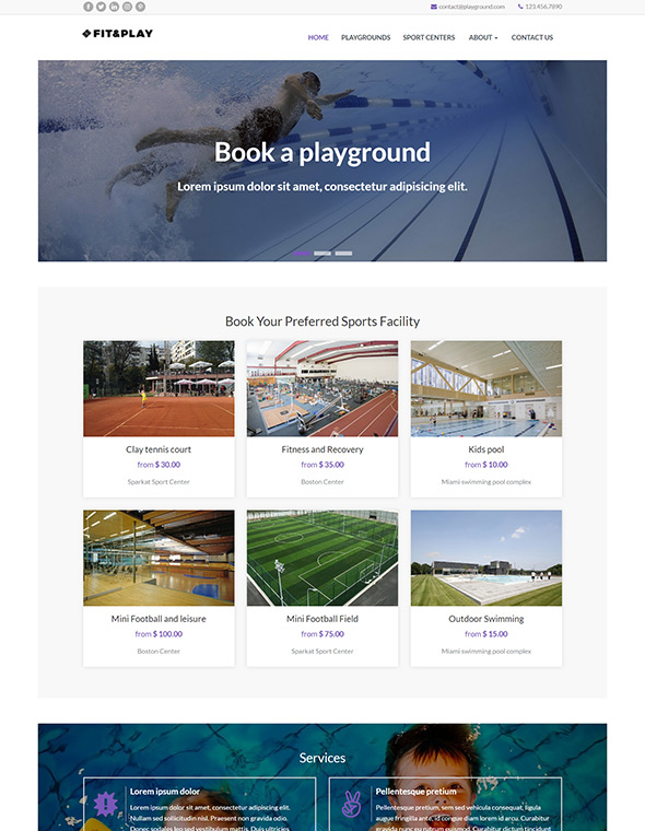Playground Website Template #10