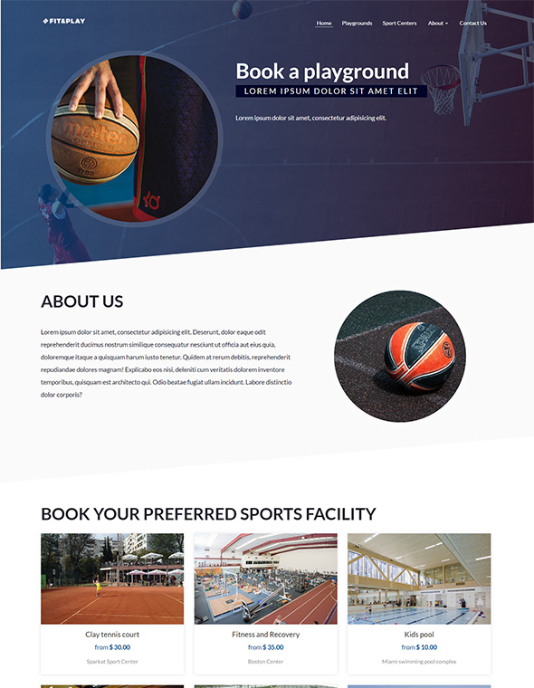 Playground Website Template #2