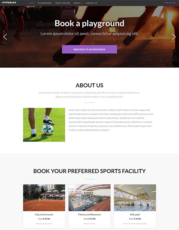 Playground Website Template #3