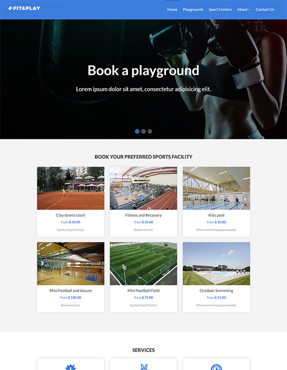 Playground Website Template #5