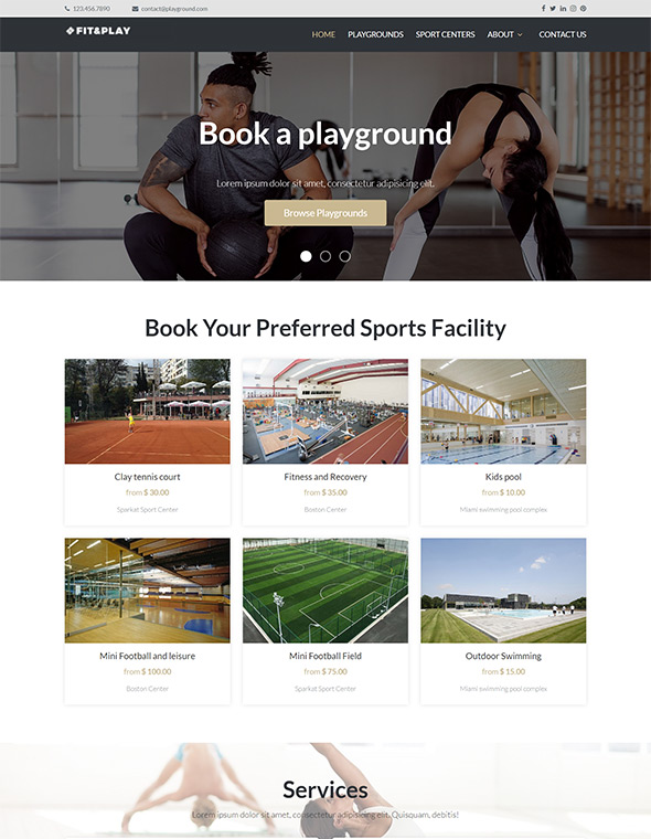 Playground Website Template #6