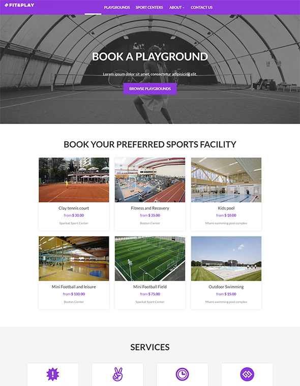 Playground Website Template #7