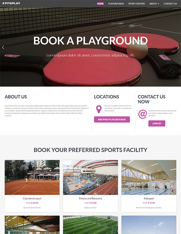 Playground Website Template #8