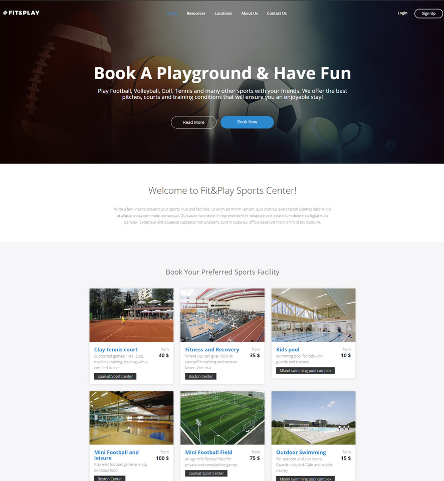 Playground Website Design by VEVS 1