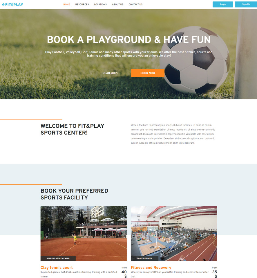 Sports Venue Website Design by VEVS 2