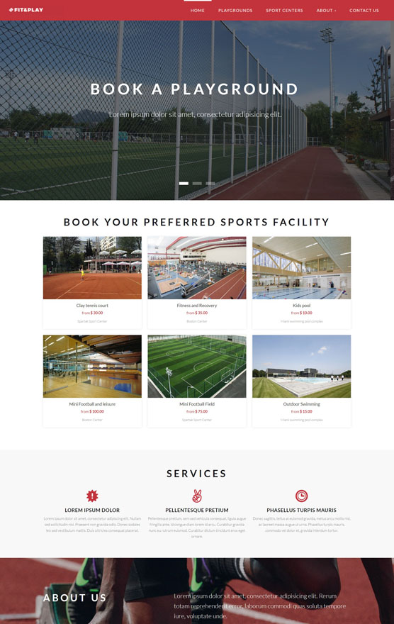 VEVS Sports Facilities Booking Website