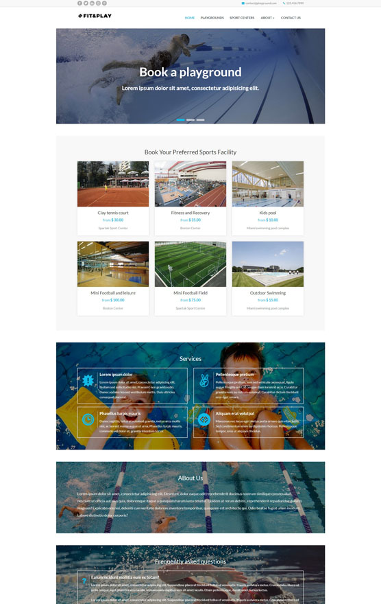 VEVS Sports Venue Website