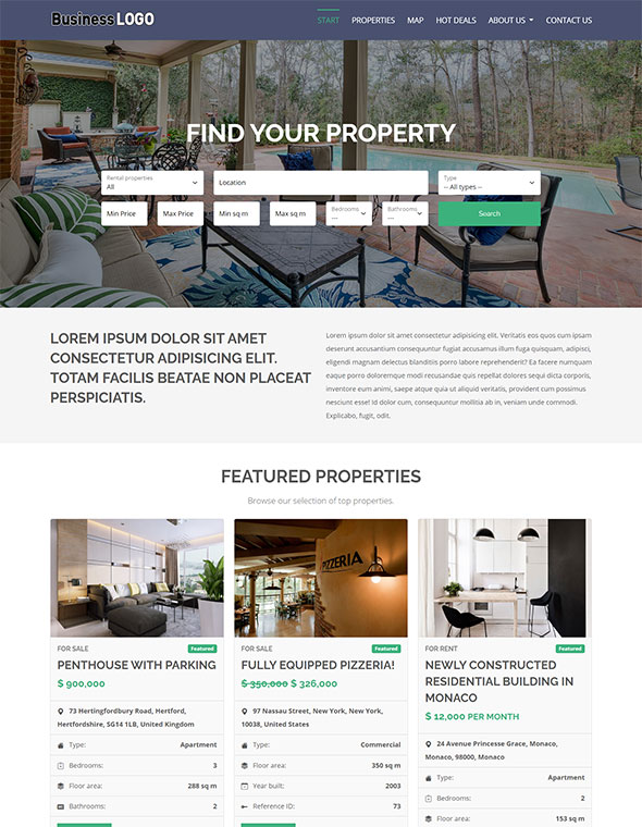 Real Estate Website Template #1