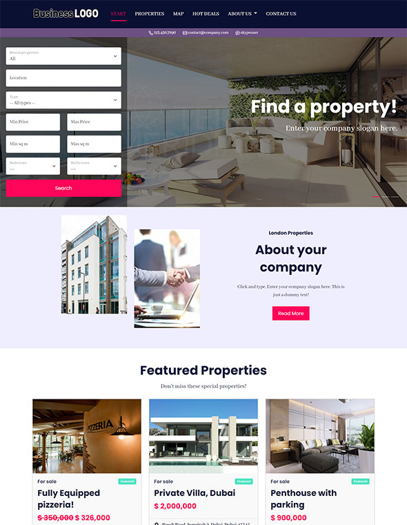 Real Estate Website Template #10