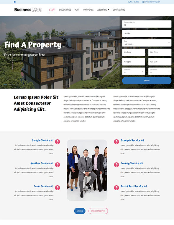 Real Estate Website Template #2
