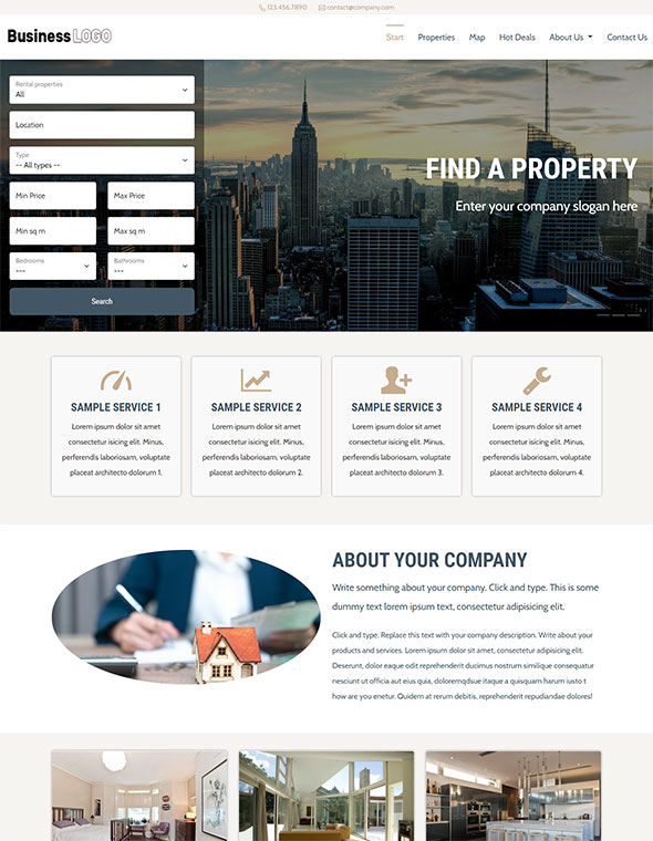 Real Estate Website Template #3