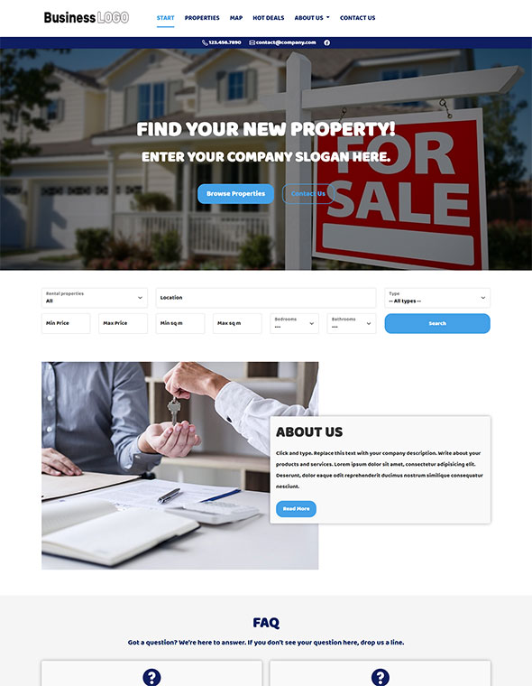 Real Estate Website Template #4