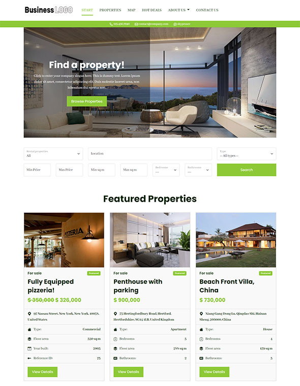 Real Estate Website Template #5