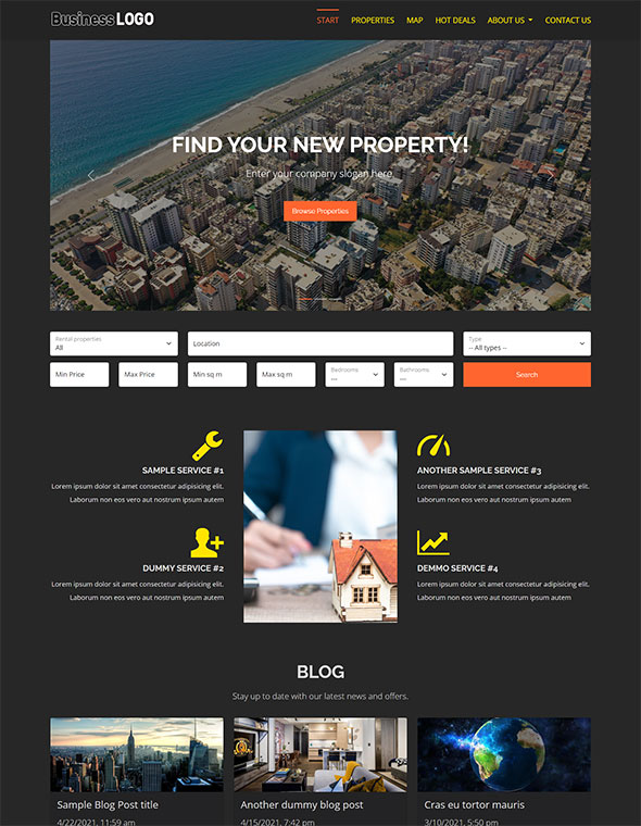 Real Estate Website Template #6