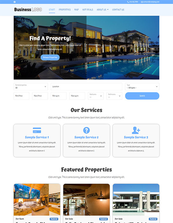 Real Estate Website Template #7