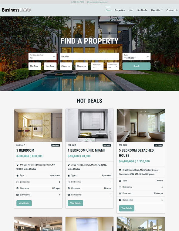 Real Estate Website Template #8