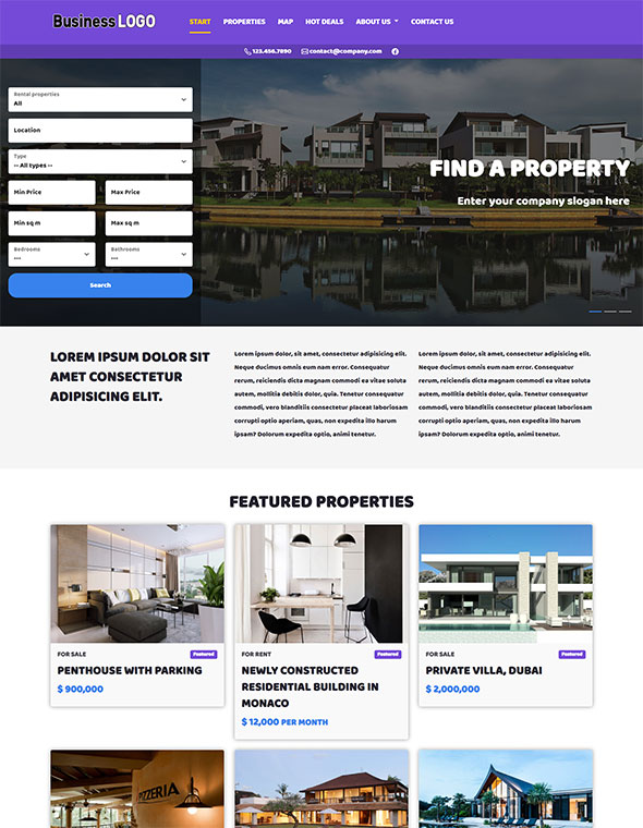 Real Estate Website Template #9
