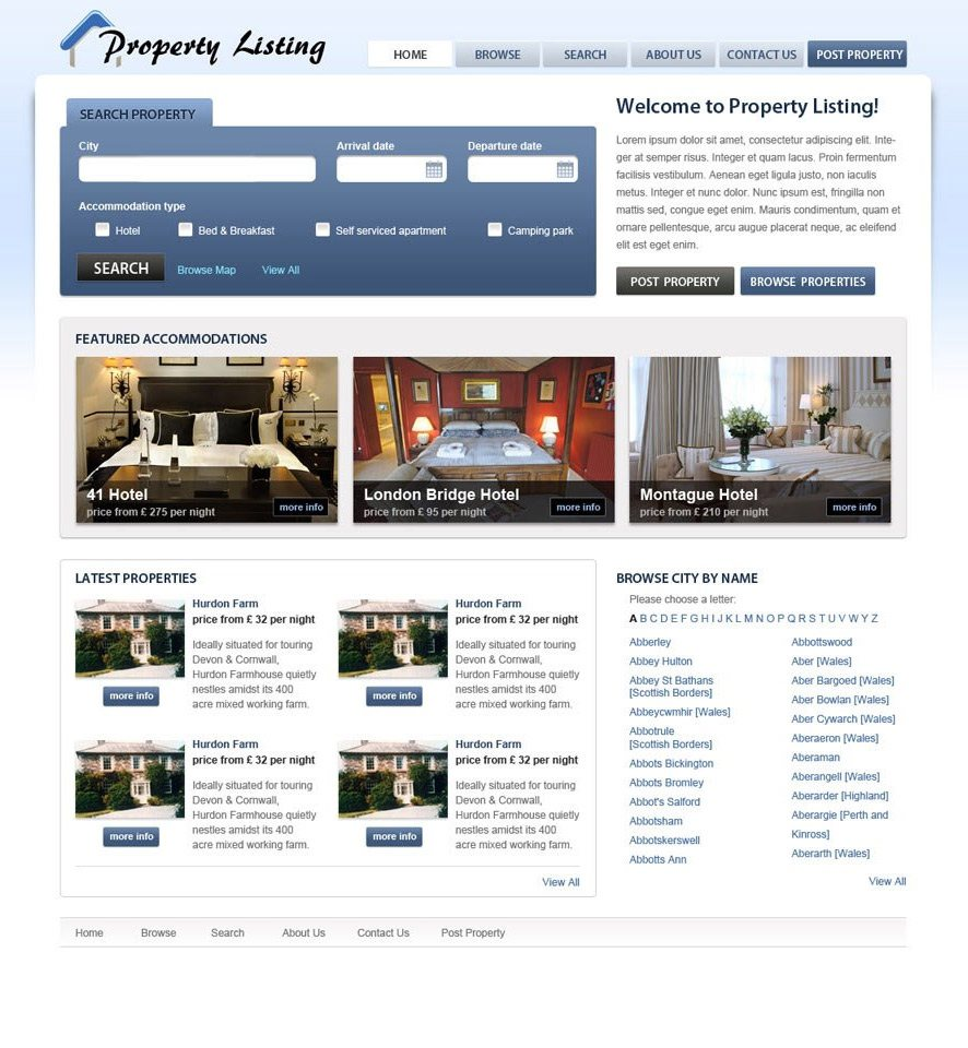 Real Estate Website Custom Template #2