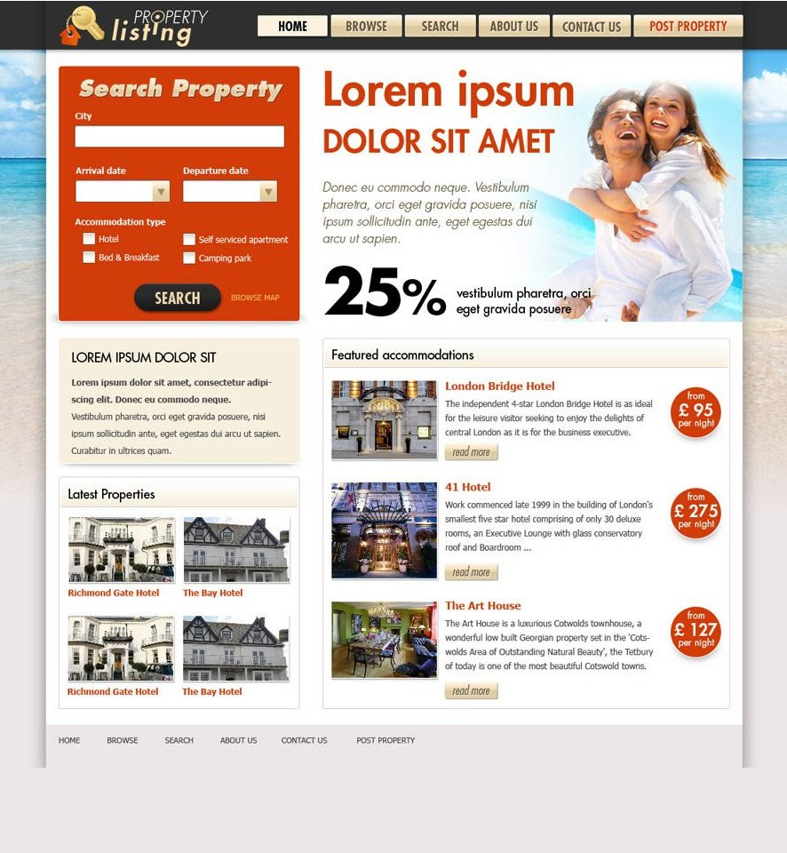 Real Estate Website Custom Template #3