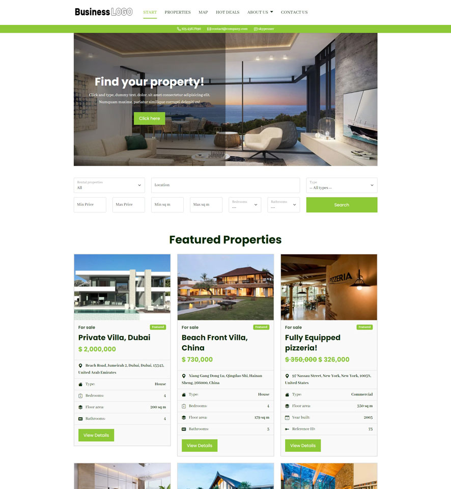 Real Estate Website Design by VEVS 1