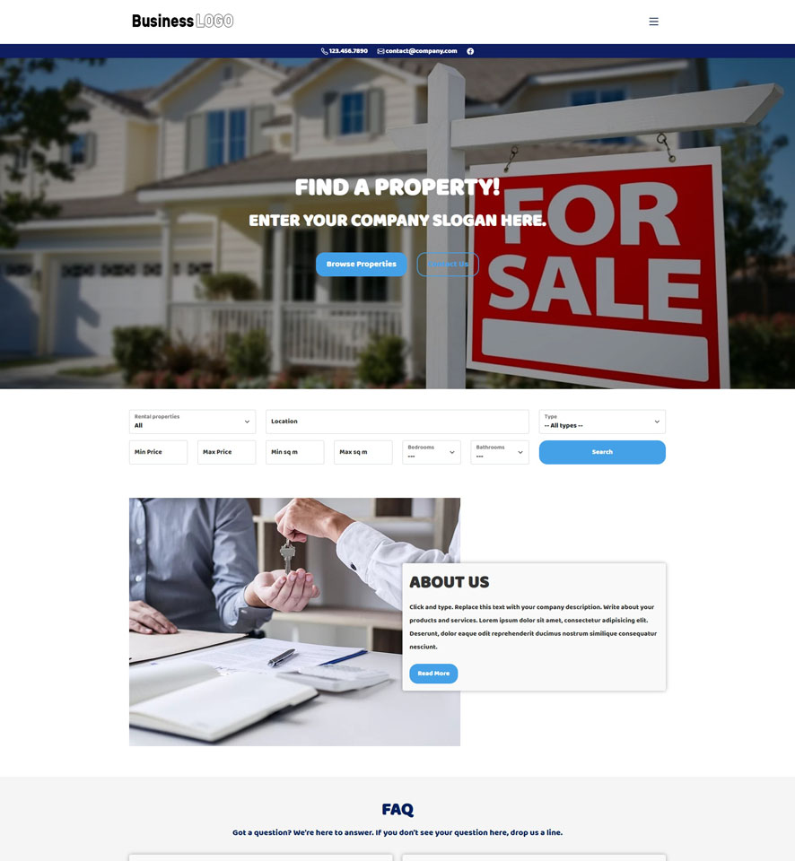 Real Estate Website Design by VEVS 2