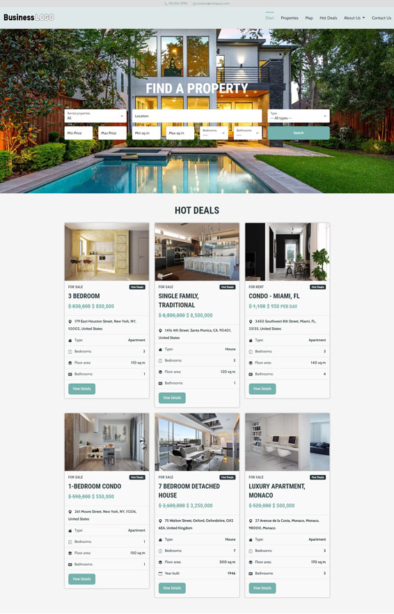 Real Estate Website 1