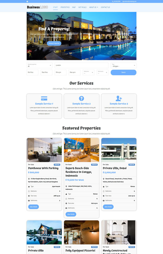 Real Estate Website 3