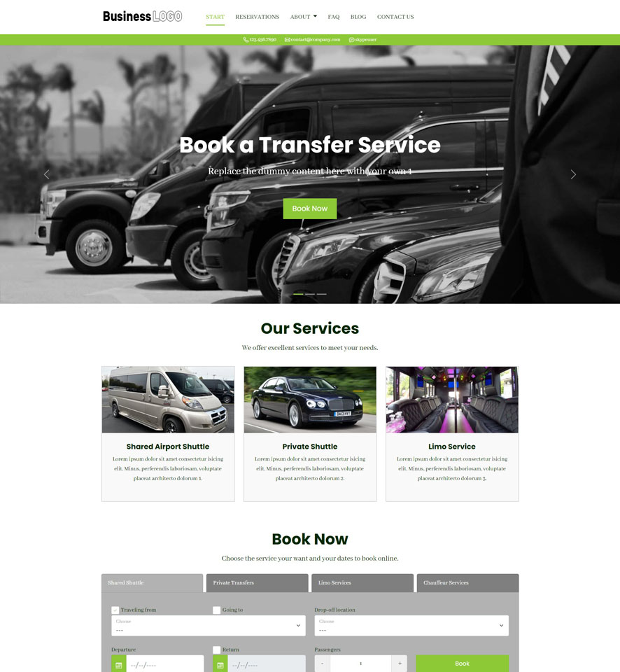Shuttle Booking Website Design 2