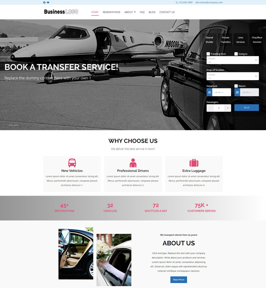 Shuttle Website Design 1
