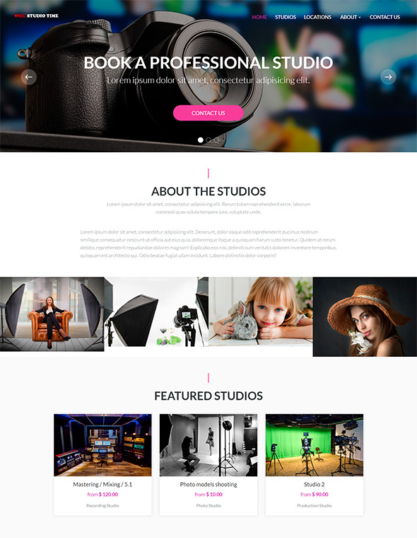 Studio Website Template #1