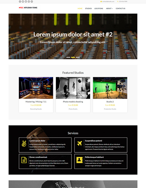 Studio Website Template #10
