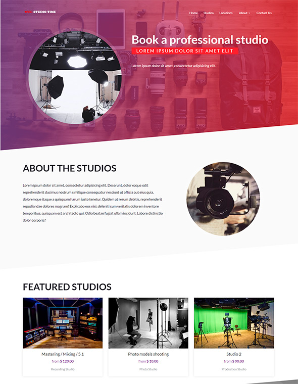 Studio Website Template #2