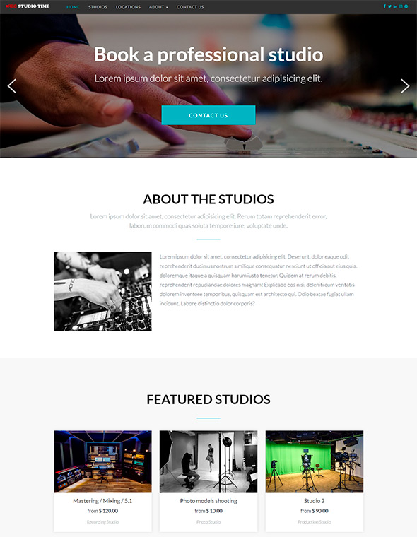 Studio Website Template #3