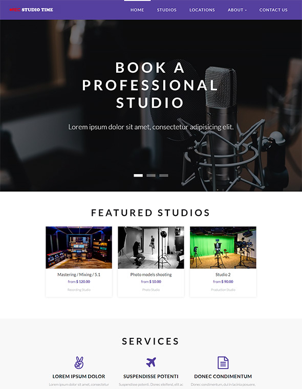 Studio Website Template #4