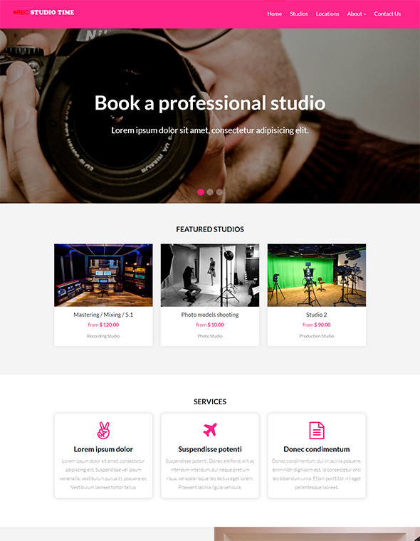 Studio Website Template #5