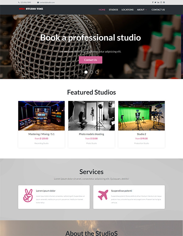 Studio Website Template #6