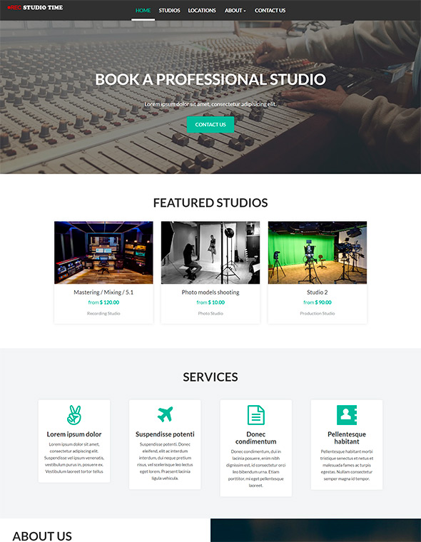 Studio Website Template #7