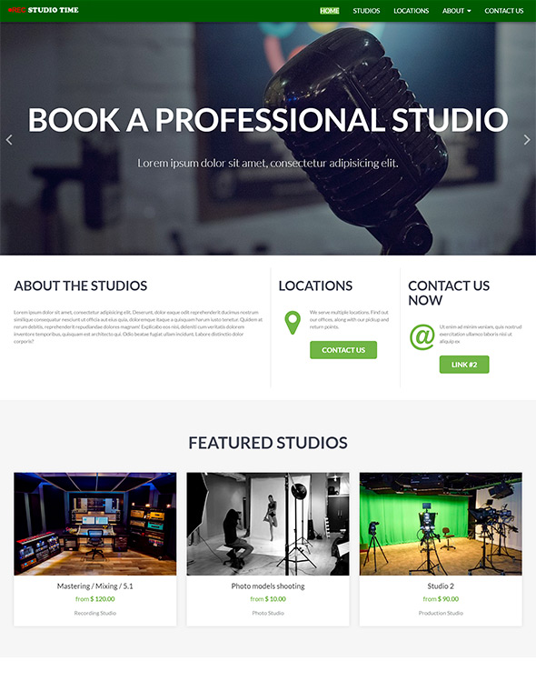 Studio Website Template #8