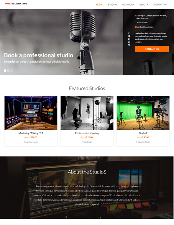 Studio Website Template #9