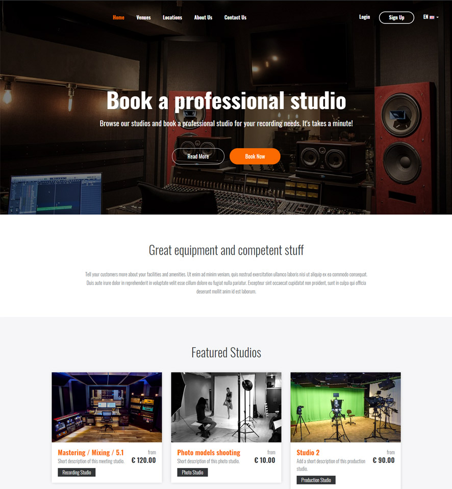 Studio Website Design by VEVS 1