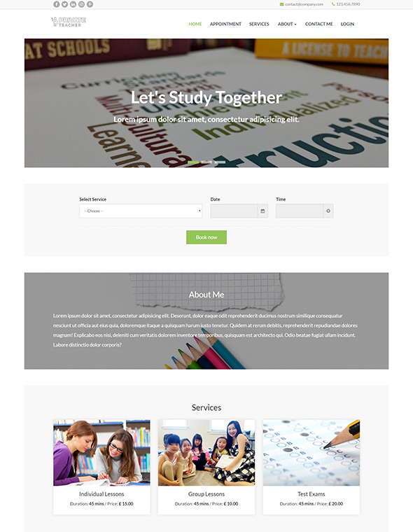 Teacher Website Template #10