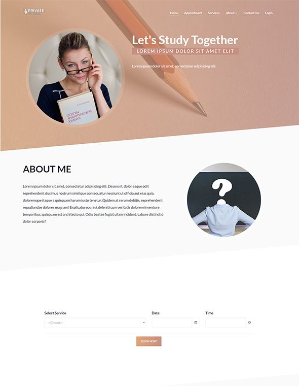 Teacher Website Template #2