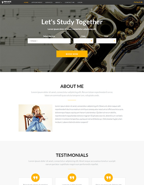 Teacher Website Template #3