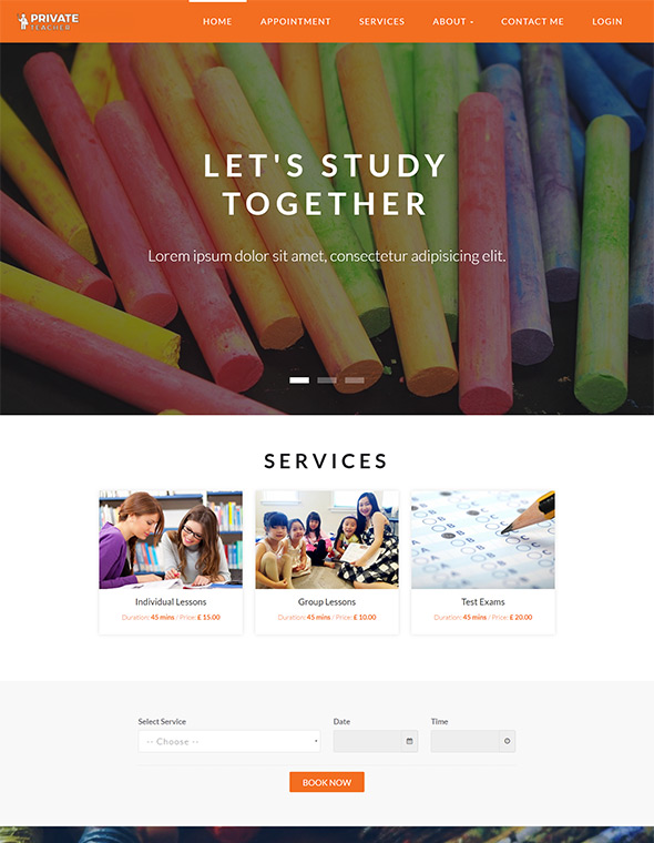 Teacher Website Template #4