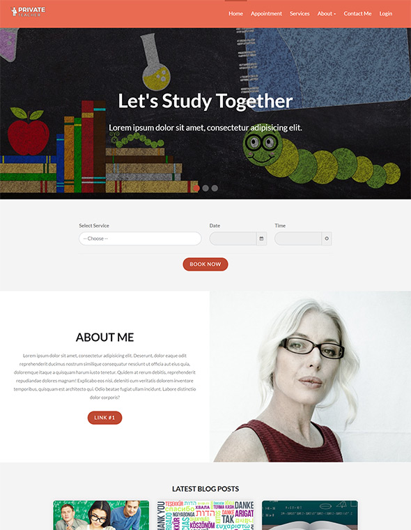 Teacher Website Template #5