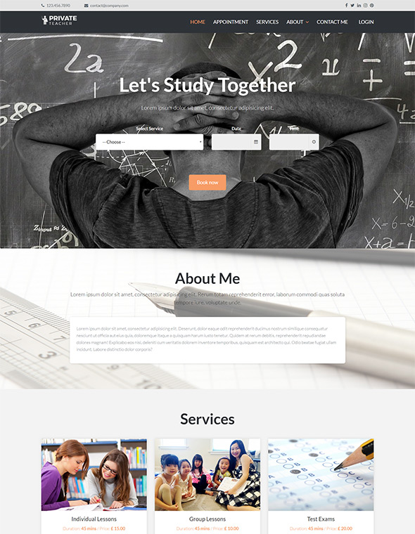 Teacher Website Template #6