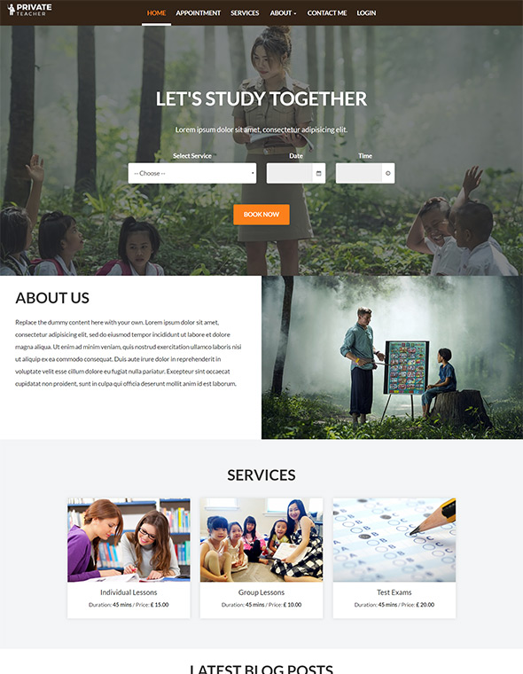 Teacher Website Template #7