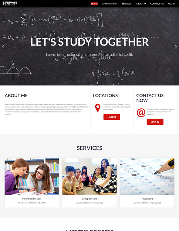 Teacher Website Template #8